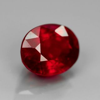 Natural Gem 2.69ct 9x7mm Oval Pigeon Blood Red RUBY, MADAGASCAR