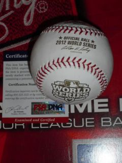 Bruce Bochy Signed 2012 World Series Baseball San Francisco Giants PSA