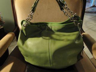 BODHI Modern Pebble Leather Hobo Tote Shoulder Bag Soft Gorgeous Lime