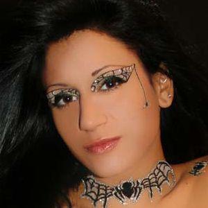 xotic eyes black widow body art make up stick on glitter false