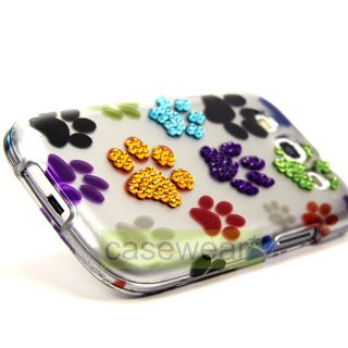 Luxmo Paws Spot Diamond Bling Hard Case Cover for Samsung Galaxy S3