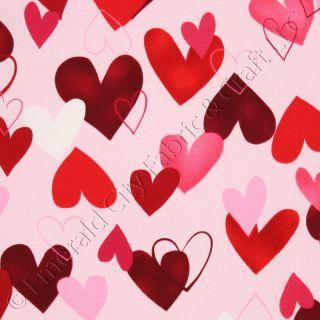 Robert Kaufman All My Heart Pink Cotton Quilt Fabric