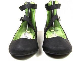 Blowfish Santion Womens Black Leather Look Flat Pumps Shoes UK Sizes 3
