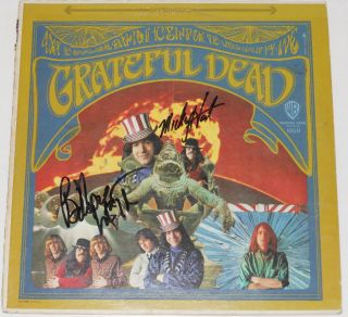 BOB WEIR MICKEY HART Signed Autographed Grateful Dead ALBUM LP