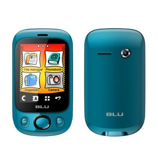 New Blu Spark S130 Blue Touchscreen Dual Sim Unlocked GSM Quadband Bar