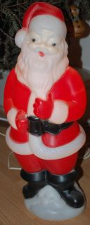 Carolina Blow Mold Santa Claus Lighted Christmas Outdoor Yard Decor