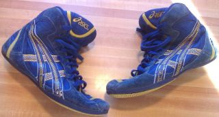 Asics Mosh Very RARE Wrestling Shoes Blue Yellow Moshes