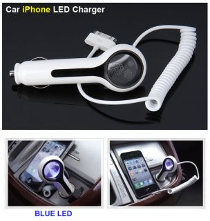 Car iPhone 4 4S Blue LED Charger High Quality Car Accessories Free