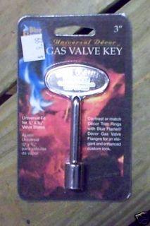 Dante Blue Flame Fireplace Chrome 3 Gas Valve Key 1 4 5 16 Stem New