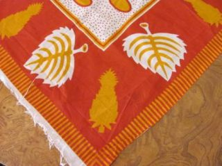 Kenyan Leaves Fabric Piece for Sewing Tablecloth African Textile 44x63