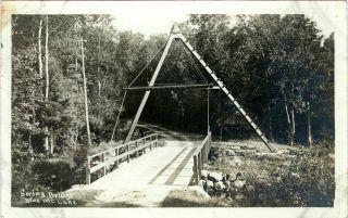 RARE RPPC Swing Bridge Blue Mountain Lake Eagles Nest Marion River