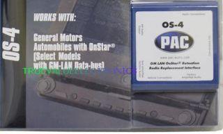 Pac OS 4 OS4 Bose Non Bose OnStar Radio Harness Free