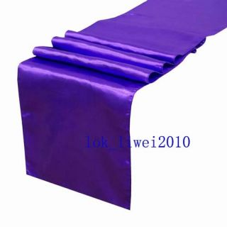 5pcs New Purple Satin Table Runners 12 x 108 Wedding