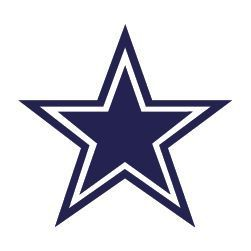 Dallas Cowboys Blue Star 8x8 Die Cut Decal
