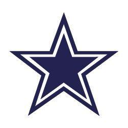 Dallas Cowboys Blue Star 8x8 Die Cut Decal