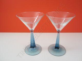 SET OF 2 BOMBAY SAPPHIRE Martini Cocktail Glasses