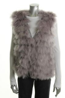 Blue Tassel New Gray Modal Feather Fring Front Button Up Casual Vest