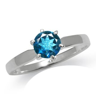 Natural London Blue Topaz 925 Sterling Silver Solitaire Ring Size Sz 6