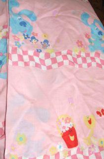 Blues Clues Twin Bed Flat Sheet Pink Bedding Blues Clues