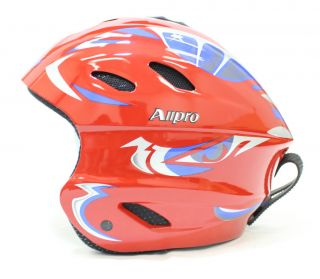 New ALLPRO Ski Snowboard Winter Sports Helmet Red Blue S M L XL