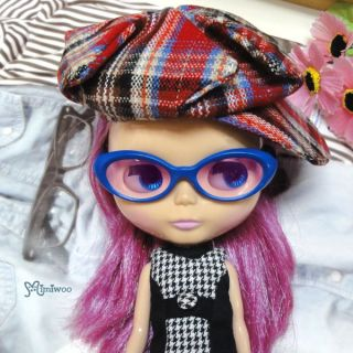 Mimi Collection Fashion 12 Blythe Doll Plastic Blue Frame Glasses