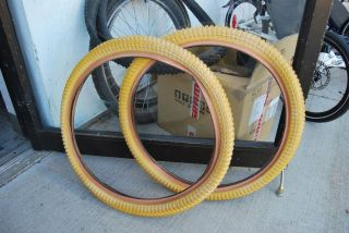 Pro Snake Belly 24 x 2 125 BMX Bicycle Bike Tires New Old Stock