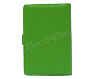 For Nook Tablet Nook Color Green Leather Case Cover Jacket Screen