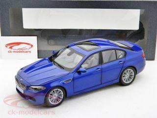 BMW M5 V8 Biturbo F10 Limousine Monte Carlo Blue 1 18 Paragon Models