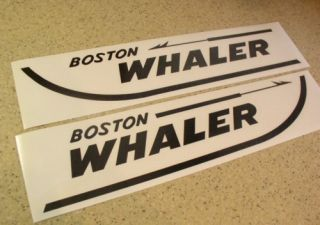 Whaler Boat Decals Die Cut 2 Pak 18 Free SHIP Free Fish Decal