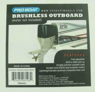 Pro Boat Brushless Outboard Boat Motor Unit PRB4020