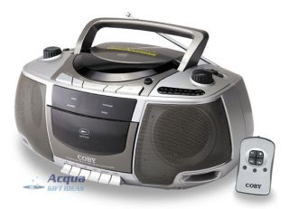 Portable Boombox Am FM Radio CD Cassette Player Remote