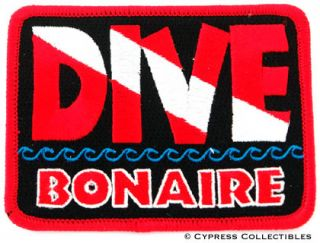 Dive Bonaire Embroidered Patch Scuba Diving Flag Logo