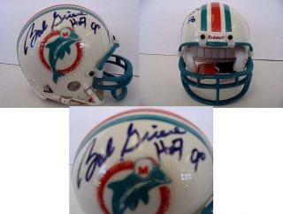 Bob Griese Signed Autographed Mini Helmet Dolphins
