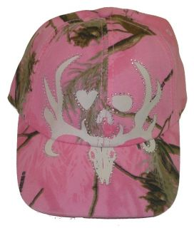 Bone Collector Realtree AP Pink Camo Bling Rhinestones Ladies Hunting