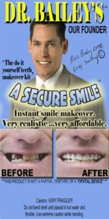 Billy Bob Teeth Secure Smile One Size Fits All