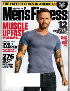 Mens Fitness Magazine March 2012 Bob Harper Biggest Loser Muscle Up