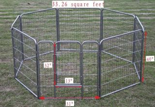 40 Heavy Duty Pet Playpen Dog Exercise Pen Cat Fence