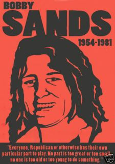 IRISH REPUBLICAN BOBBY SANDS POSTER