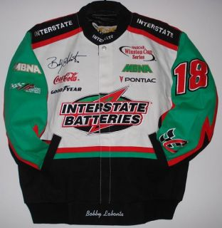 Size XXL NASCAR Bobby Lbonte Interstate Batteries Cotton Jacket New