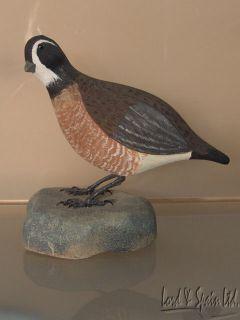 Anderlik Hand Carved Painted Bob White Quail Decoy Bird Figurine