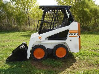 2008 Bobcat 463 Skid Steer Wheel Loader Aux Hydraulics 36 Bucket