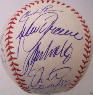 Braves team auto signed MLB baseball Bobby Cox Chipper Jones Smoltz