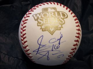 2010 SF Giants Team Signed World Series Baseball Bochy