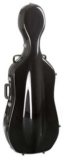 Bobelock 2000W Black Fiberglass 4 4 Cello Case Wheels