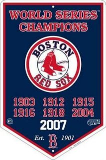 Boston Red Sox Metal Sign Champions Baseball Decor