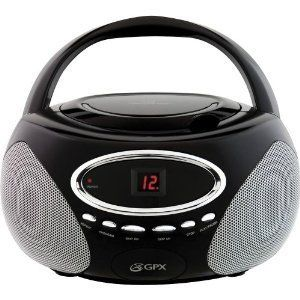 Portable Stereo Boombox CD Player Radio Black New GPX