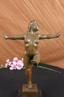 Classic Famous Botero Abstract Art Female Bronze Sculpture Woman