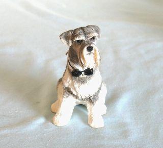 Snappy Schnauzer w/ Bow Tie Dog Figurine Sherratt & Simpson Retired