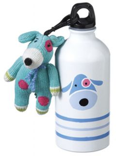 blue dog water bottle with matching clip on ages 3 yrs and up brand