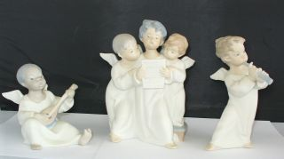 PC Lladro Angels Black Angel Angels Group Angel with Horn 4537 4540